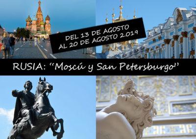 """RUSIA """"Moscú y San Petersburgo"""""""