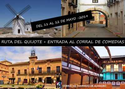 RUTA DEL QUIJOTE + ENTRADA AL TEATRO DEL CORRAL DE COMEDIAS DE ALMAGRO