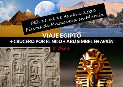VIAJE EGIPTO + CRUCERO POR EL NILO + ABU SIMBEL EN AVIÓN  8 DÍAS
