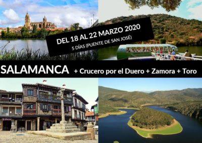 SALAMANCA + CRUCERO POR EL DUERO + ZAMORA Y TORO